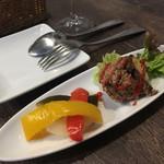 エロうま野菜と肉バル カンビーフ - お通し300円も良心的
