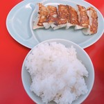 山岡家山形西田店 - 餃子ライス