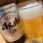大衆食堂 火成 - ビールはスーパードライ