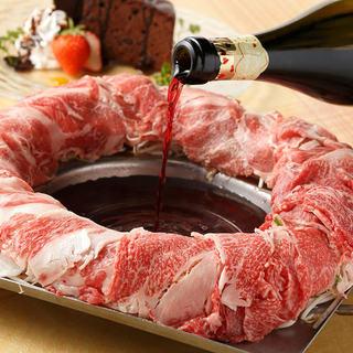 ◆赤スパークリング◆『イベリコ豚の肉炊き鍋』コース4000円