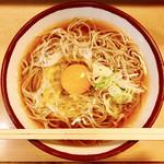 そばの神田 東一屋 - 『月見そば』様(360円)