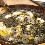 椿サロン - 牡蠣と岩海苔のアヒージョ950円