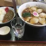かずのや食堂 - 料理写真:チャーシュー麺とミニカレー