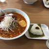 サッポロ香蘭 - 料理写真:担々麺+おにぎり