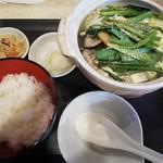ちゃんこ定食 玉ちゃん - デラックス塩(アサリ2個+豚肉)