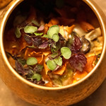 L'EAU - 鱈の白子のムニエル 菊芋のピュレと牡蠣のソースで