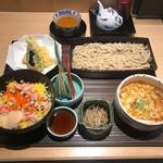 久保田 - 蟹ばらちらし丼とかき玉汁そば膳(1600円)