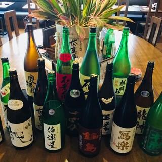 日本全国から届いた厳選地酒沢山ございます!