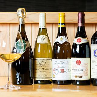季節感あふれる和食と好相性のワインを、お手頃価格でご提供