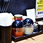 麺家 黒 - 卓上