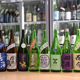 日本酒70種類以上飲み放題!
