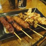 門吉 - 串焼き5種盛り
