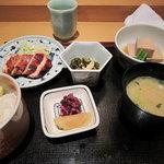 10223415 - 若鶏きじ焼き、栗ご飯セット¥1,500