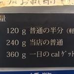102234314 - 麺量説明