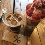 バンクーバー コーヒー - フレンチトースト900円、カフェラテ500円。カフェラテもとても美味しかったです(╹◡╹)。アラビカ種のコーヒーは、私の好みなので、カフェだけでも通いたくなる味わいです(╹◡╹)