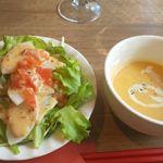 はしぐち亭 - スープサラダセット
