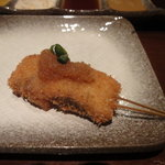 串揚げ えん藤 - 秋刀魚の串揚げ