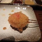 串揚げ えん藤 - ミニトマトの串揚げ