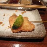串揚げ えん藤 - 松茸の串揚げ