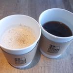 ビー ア グッド ネイバー コーヒー キオスク - ミルクチャイ(500円)と本日のコーヒー(320円)