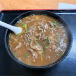 小島 - カレー蕎麦(中サイズ)