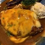 山本のハンバーグ - からしチーズマヨ