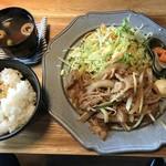 102257511 - 豚生姜焼き定食、税込700円