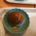 薩斐蘭州牛肉麺 - 小鉢の味付け玉子(ピータンでは無いよ)