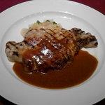 レストランロア - ポークステーキ(ライスorパン、スープ、サラダ付)1850円