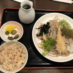 そば処 善作家 - 海老天おろし定食@730円