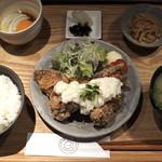 102262791 - 唐揚げらっきょタルタル定食 850円