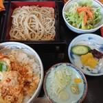 古奈金 - 料理写真:天丼とせいろ蕎麦のセット。