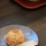 甘味喫茶 おかげ庵 - 料理写真:わらび餅(紫芋餡)