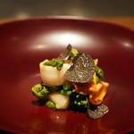 102270212 - タイラ貝と赤貝のバジルソース