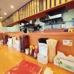 Kumiyamashiogensui - カウンターから厨房を見る。