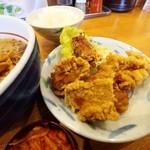 Kumiyamashiogensui - 鶏唐揚げのup♪ ここの唐揚げクセになります♡
