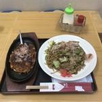 みどり - 料理写真:焼きそば(豚肉入り)+ミニお好み焼き セット