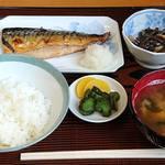 お食事処 みやじま - 料理写真:お食事処 みやじま @本蓮沼 さば焼定食 ごはんかな~り小 税込650円