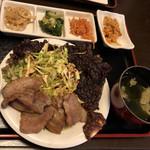 韓国家庭料理 唐辛子 - サムギョプサルランチ  1260円