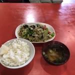 鴻華 - やさいいため定食 500円