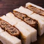 銀座サンド  - ミンチカツサンド 自家製ピリ辛どろソース使用