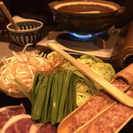 鴨亭 - 鴨亭鍋 ゆず胡椒風味の出汁鍋です♪