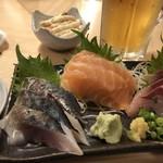 寿司居酒屋 や台ずし - 料理写真:刺し身三種盛り