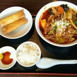 zanikugyouzashisenshuubou - 四川麻辣牛肉麺セット
