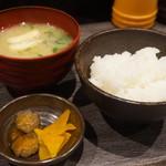 102292375 - ご飯・漬物・味噌汁