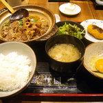 ShiKaDa屋 煮ると - 「すきやきうどん定食」800円