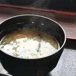 まんぷく処 どんぶり勘定 - 豆腐とワカメの美味しい味噌汁(2019.2.21)