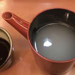 すえひろ - 蕎麦湯