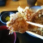 手打ち蕎麦 神楽坂 - 天丼(舞茸)