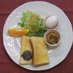 ぽぷり - 料理写真:モーニングサービス洋食 トースト(黒ゴマ・バター・小倉・シナモンの中から選べます)